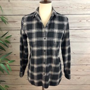 Madewell Plaid Hunter Flannel Button Down Shirt